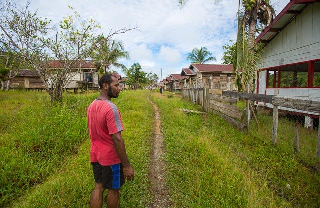Yef man in village